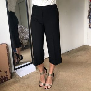 Cropped wide-leg business pants